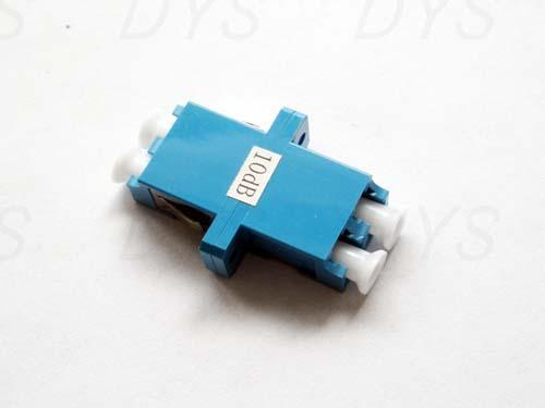 Stable LC Duplex Fiber Optical Attenuator Blue / Green / Metal With 1db - 30db Value