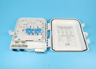 Mini 16 Port FTTH Fiber Optic Terminal Box LC16 core , Fibre Termination Box