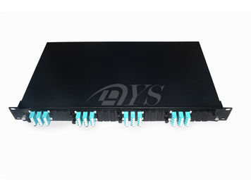 1U LC 48Core Base Type Fiber Optic Panel poprawek MPO / MTP