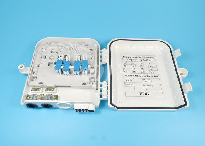 Chiny Mini 16 Port FTTH Fiber Optic Terminal Box LC16 core , Fibre Termination Box dostawca