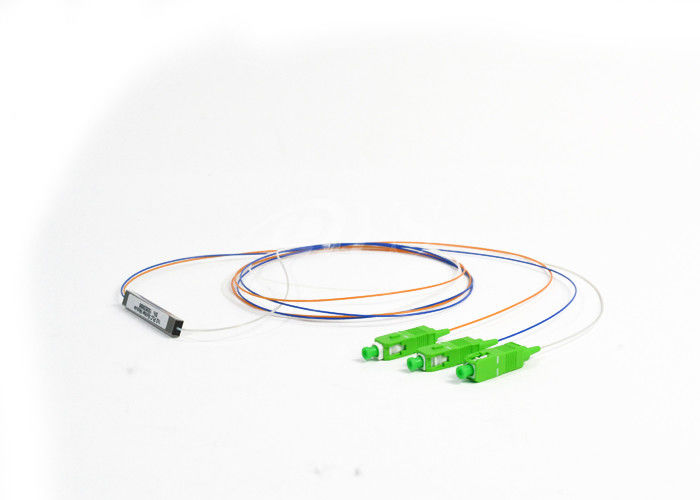 Chiny SC/APC 1x2 PLC Optical Fiber Splitter Singlemode stainless tube type Connectorized dostawca