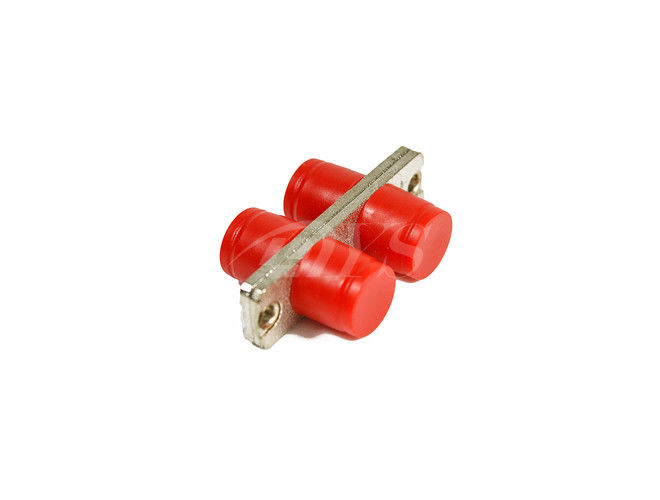 Single Mode / Multimode Fiber Optic Adapter FC Red With Plastic & Metal dostawca