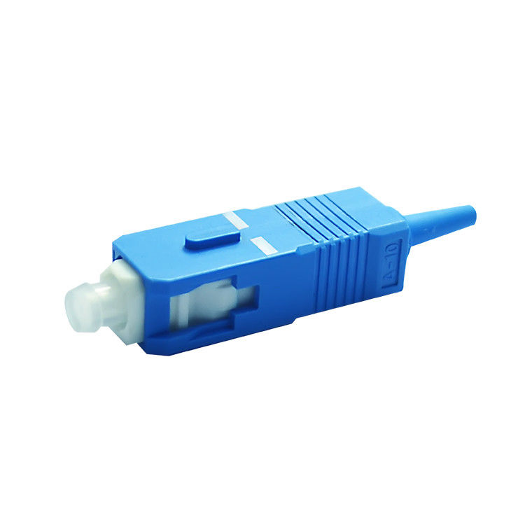 Chiny Singlemode 9 / 125 SC / UPC Fiber Optics Connectors Low insertion loss value dostawca