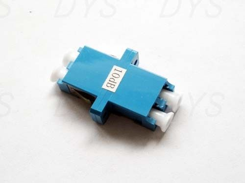 Chiny Stable LC Duplex Fiber Optical Attenuator Blue / Green / Metal With 1db - 30db Value dostawca