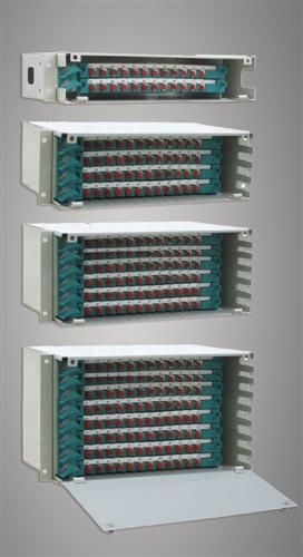 Stainless Steel ABS Fiber Optic Odf 96 Ports FC / SC / ST / LC for Wide Area Networks dostawca