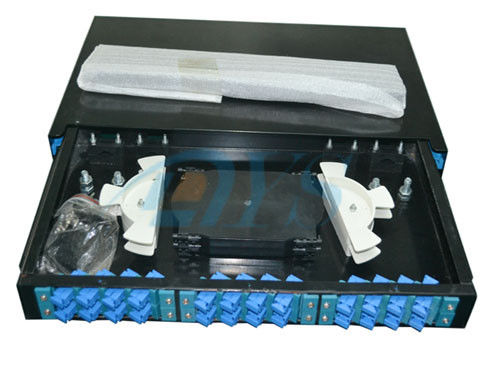 Chiny SC Slidable Odf Optical Fiber 19 Rack Mount  to Fiber Optic Termination Box dostawca
