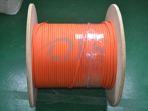 Chiny Indoor 62.5 / 125um Fiber Optic Patch Cord , Orange Duplex Flat Fiber Optic Cable dostawca