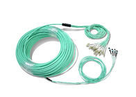 Data Center 4 * 12 MTP - LC Duplex 48 rdzeni Optical MPO Patch Cord z interfejsem MPO / MTP